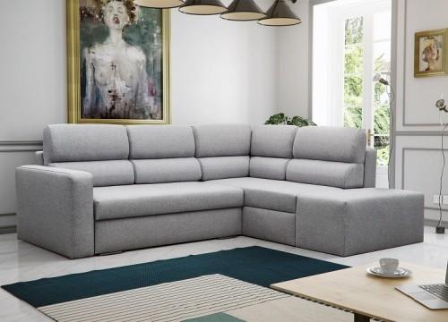 Καναπές γωνία με κρεβάτι KENYA 241Χ198Χ88