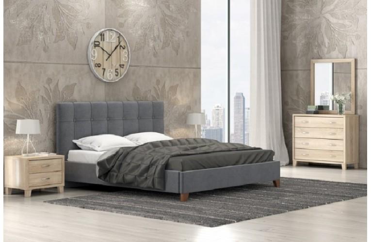 Κρεβάτι Νο 62 Σκούρο Γκρι Λάττε