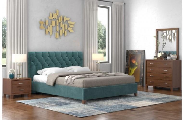 Κρεβάτι Νο 63 Μπλε Καρυδί