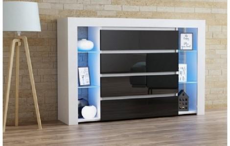 Συρταριέρα APIS Λευκό-Μαύρο