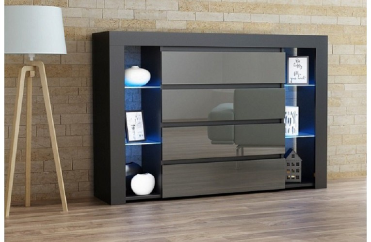 Συρταριέρα APIS Μαύρο-Γκρι