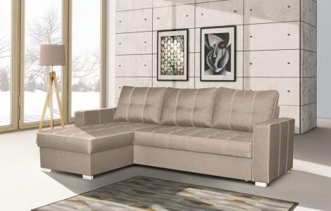 Καναπές γωνια με κρεβάτι DALLAS 238Χ159Χ88